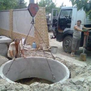 Установка септика ЖБ  под ключ и водопровод.погреб